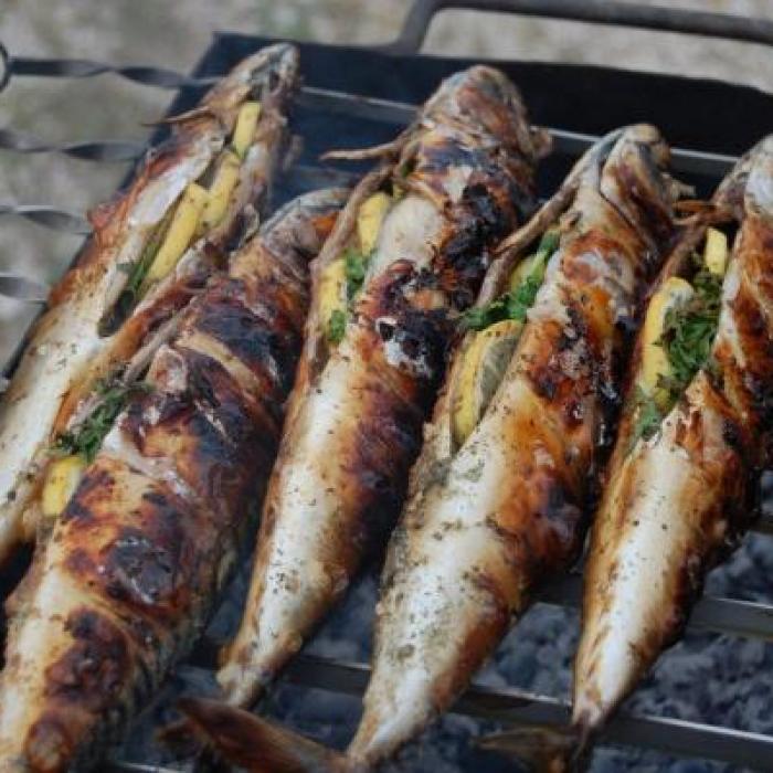Рецепт жаренная рыба на решетке