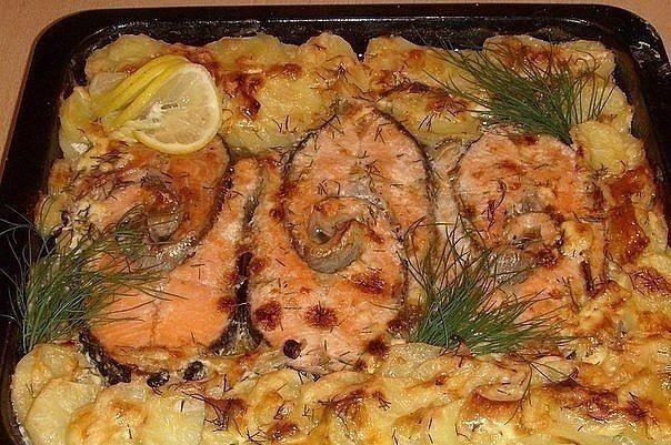 Блюда с рыбой рецепты в духовке