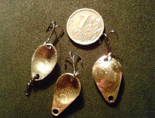 Самодельная блесна из монет своими руками 77