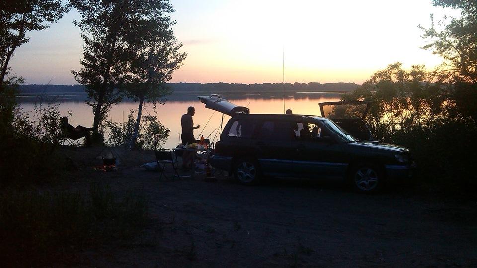 Начало ночной рыбалки