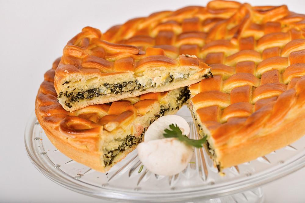 Пирог с лососем.