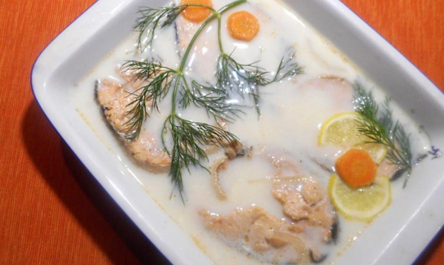 блюдо из рыбы-капли